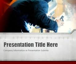 free welding powerpoint template with red background color is a
