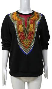dashiki sweater wax print batik ankara unisex dashiki sweater