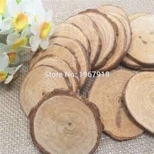 Rustic Wedding Decorations For Sale Aliexpress Com Buy 30pcs Diamenter 5 6cm Wood Log Sheet Rustic