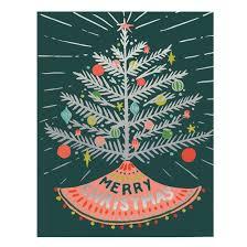 aluminum tree merry card by idlewild co otsu