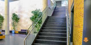 interior stair glass railing unt blb viva view railing system