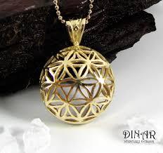 gold flower pendant necklace images 14k gold 39 flower of life 39 pendant flower delicate jpg