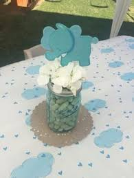 jar baby shower centerpieces elephant baby shower centerpiece peanut baby shower