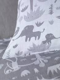 cotton menagerie bedding set designed by donna wilson for secret