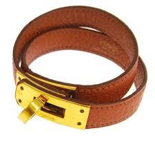 bracelet leather gold images Hermes leather gold double tour kelly men 39 s women 39 s cuff bracelet jpg