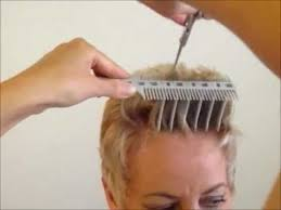 pictures of women over comb hairstyle how to cut women s short hair layer haircut combpal scissor over