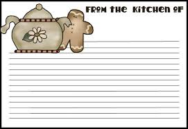 recipe card clipart many interesting cliparts