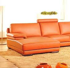 orange leather sectional sofa contemporary orange leather sectional sofa with chaise