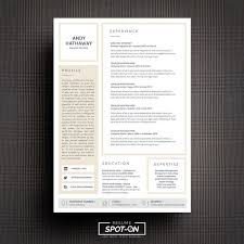 17 best resume cv template by spot on resume images on pinterest