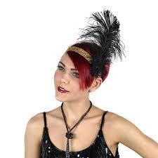 feather headband flapper headband