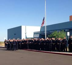 Fallen Officer Flag Police Turn Out For Fallen Phoenix Officer U0027s Daughter