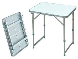 Home Decor News Roll Up Top Camping Aluminum Small Metal Folding Table Small