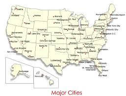 map us big cities us maps with major cities