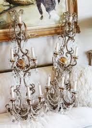 Shabby Chic Wall Sconce by Antique Beaded Dome Wedding Cake Chandelier Antique Lighting