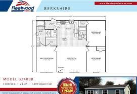 fleetwood berkshire 32403b 3 bedroom mobile home for sale