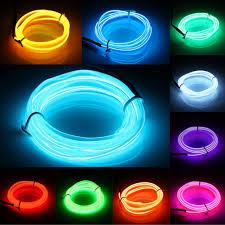 tsleen colors 2m 3v el wire light led rope
