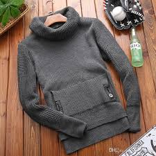 high sweaters high quality 2018 high necked mens knit slim sweaters japanese