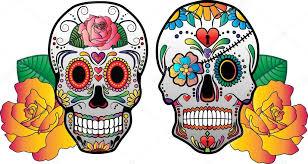 sugar skulls with roses vector stock vector sushi 321 69632927