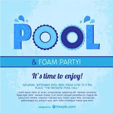 pool party poster template vector free download