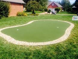 Backyard Chipping Green Synthetic Turf Putting Greens