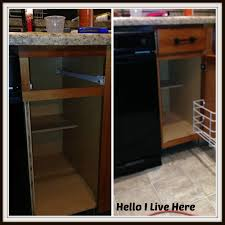Kitchen Cabinet Garbage Drawer How To Install A Trash Compactor Hello I Live Here