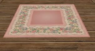 second life marketplace pink floral rug