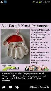 salt dough print ornament
