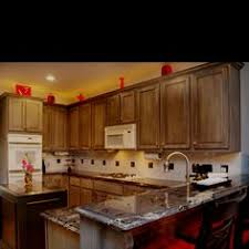 Stain Oak Kitchen Cabinets Stained Oak Cabinets To A Rich Kona Color Excited To Remodel My