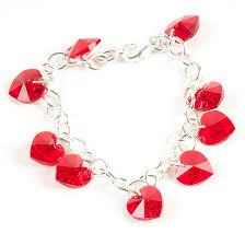 silver crystal heart bracelet images Swarovski crystal heart charm bracelet jpg