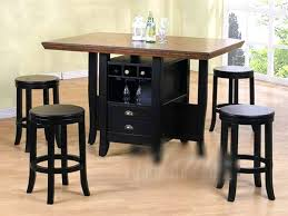 counter height desk with storage kitchen table with wine rack casual dining room design with counter