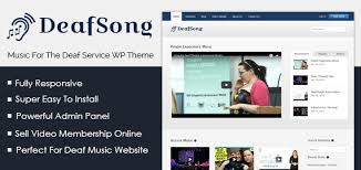 deaf song music for the deaf service wordpress theme u0026 template