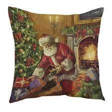 kissenbezüge longra weihnachten weihnachtsmann drucken färben sofa