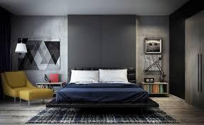 schlafzimmer grau modernes interior aus beton schlafzimmer grau mit sichtbetonwänden