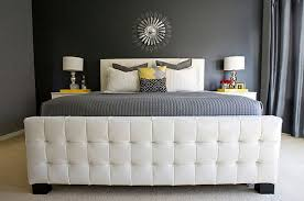 color combination with white art decor home designs modern bedroom with yellow grey and white