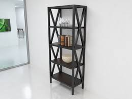 open black bookcase
