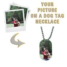 customized dog tag necklaces design your own custom printed dog tag necklace design