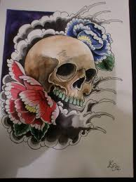 wonderful simple japanese skull golfian com