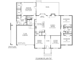 One Level Home Floor Plans 2 Story Ranch House Floor Plans