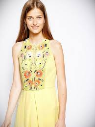 yellow french connection dress gossip style