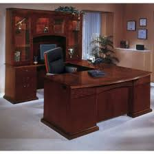 Desk U Shaped Bow Front U Shape Desk With Left Return And Hutch 15818 And More