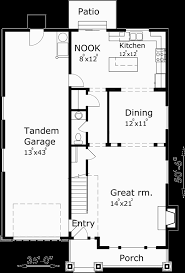 narrow house plans with garage narrow house plans with tandem garage house plans