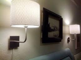 Headboard Lighting Ideas Lamps Black Wall Mounted Lamp Lighting White Bell Fabric Shade