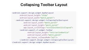 android layout collapsemode i o 15 design support library