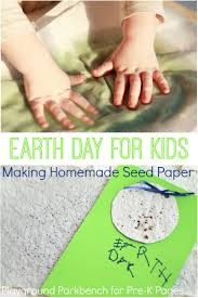 earth day project homemade seed paper pre k pages