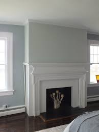 benjamin moore gray owl on fireplace wall contemporary color