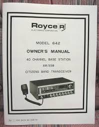 royce 642 am ssb cb radio owners manual w schematics