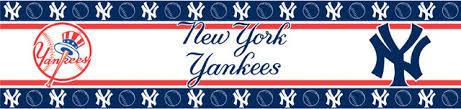 mlb new york yankees self stick wall border accent roll