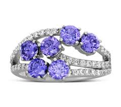 amethyst diamond engagement ring unique 2 carat amethyst and diamond ring for women jeenjewels