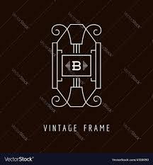 Art Deco Style Art Deco Style Elegant Monogram Design Template Vector Image
