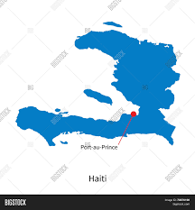 World Map Haiti by Detailed Vector Map Of Haiti And Capital City Port Au Prince Stock